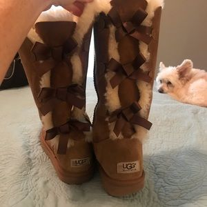 Ugg Ribbon Tie Boots